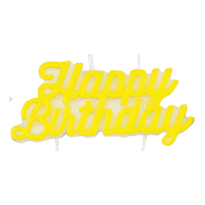 "Yellow ""Happy Birthday"" Candle"