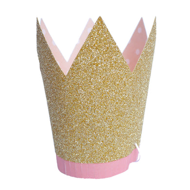 Gold Party Crowns (Set of 8)