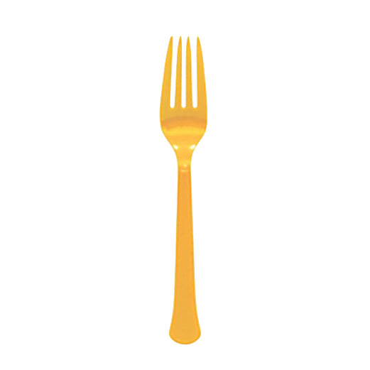 Yellow Forks (Set of 8)