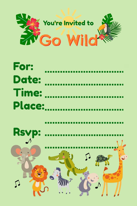 Go Wild Birthday Invitations