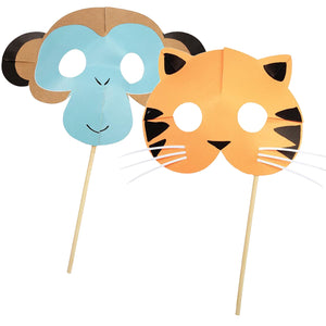 Go Wild Party Masks (Set of 8)
