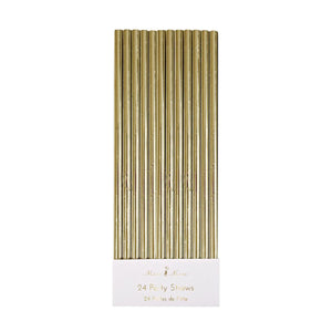 Gold Foil Party Straws (Set of 24)
