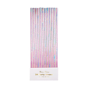 Iridescent Party Straws (Set of 24)