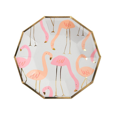 Flamingo Dessert Plates (Set of 8)