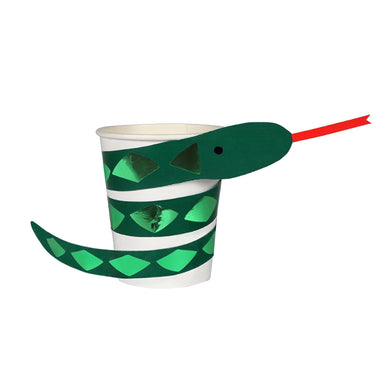 Go Wild Snake Cups (Set of 8)