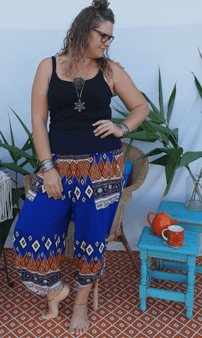Funky tummy shaper pant - Bohemama clothing nursing breastfeeding maternity funky unique plus size modest comfortable boho bohemian colourful striking versitile tops shirt pants dress brisban