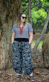 Silver spring tummy shaper pant - Bohemama clothing nursing breastfeeding maternity funky unique plus size modest comfortable boho bohemian colourful striking versitile tops shirt pants dress
