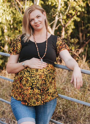 Sunflowers nursing top - Bohemama | Breastfeeding and Maternity Clothing