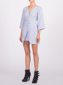 BUTTON FRONT SHORT DRESS