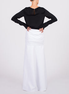 FLOOR LENGTH HOOK AND EYE SKIRT