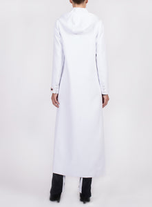 HOODED FLOOR LENGTH COAT