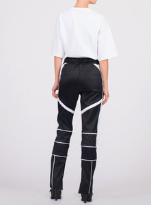 COLOR BLOCKED PANELED MOTO PANT