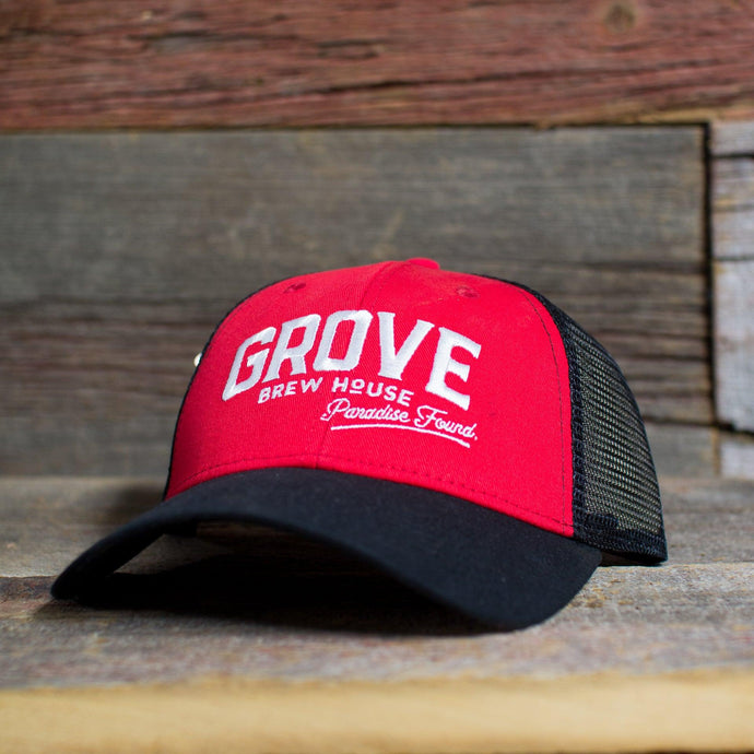 Grove Red Trucker Snapback