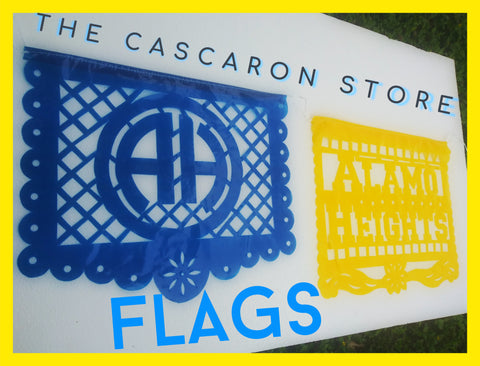 Alamo Heights Flags Fiesta Decoration Blue & Gold