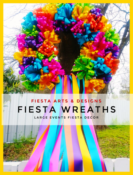 Fiesta Extra Large Outdoor Wreath & Home Tree's Decorations