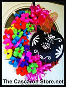 Fiesta Wreath Mariachi Hat Decor Fiesta Wreath Mariachi Hat Decor - Fiesta Arts DesignsFiesta Wreath