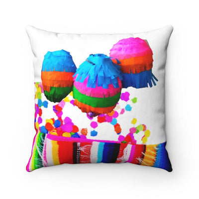 Fiesta Pinatas Square Pillow Fiesta Pinatas Square Pillow - Fiesta Arts DesignsHome Decor