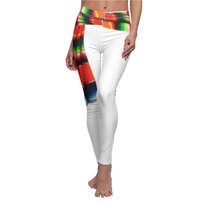 Women's Cut & Sew Casual Leggings Mexican Fiesta Zarape Style Design
