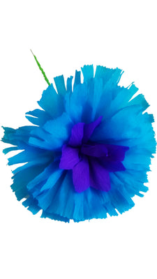 Blue Crepe paper flower Blue Crepe paper flower - Fiesta Arts Designs