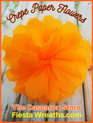 large crepe paper flower Mexican party decoration