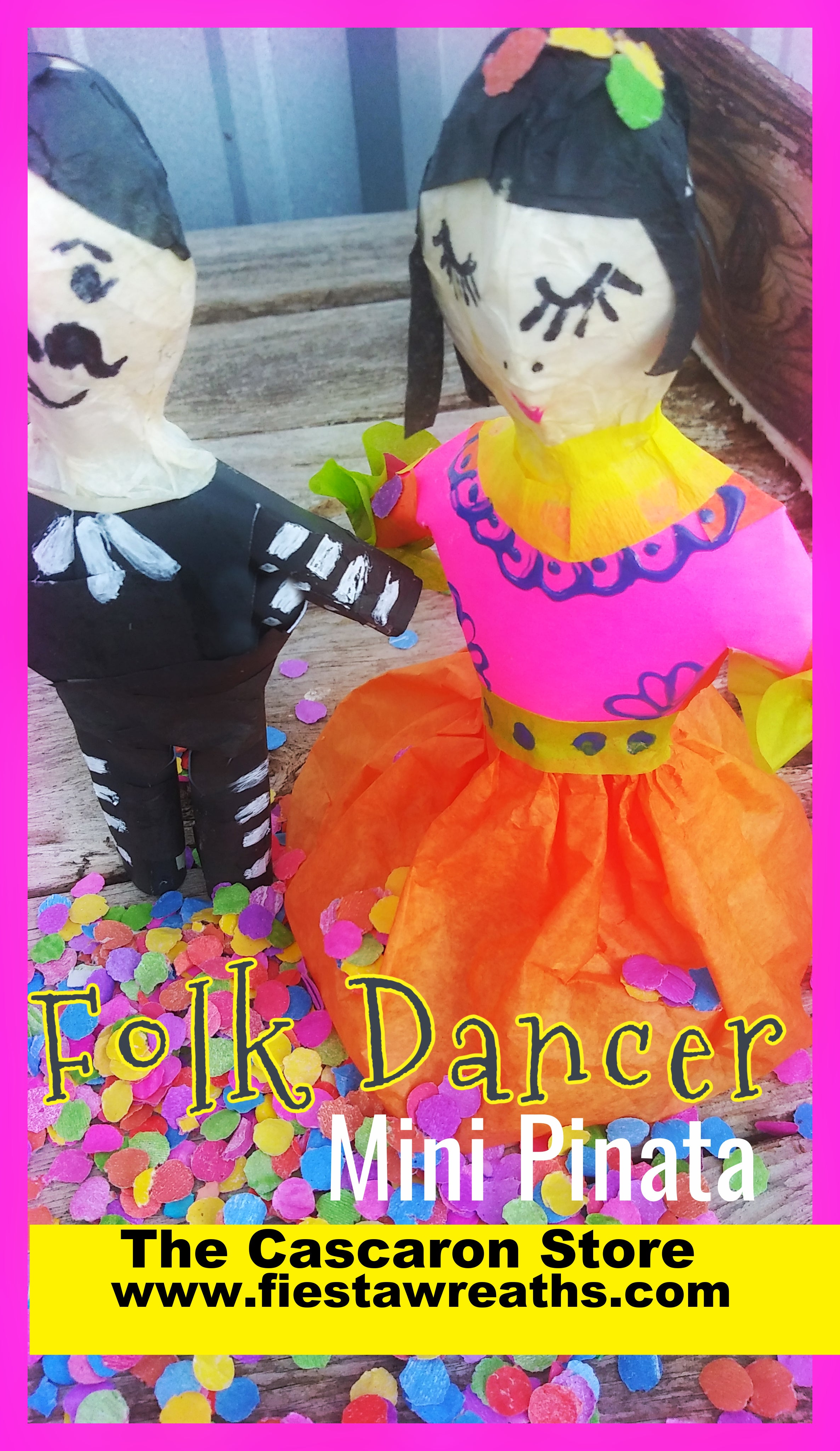 fiesta mini pinata folk dancer & mariachi party table decorations & gift bags San Antonio souvenirs