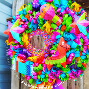 Fiesta Wreath San Antonio Home Decor & Cinco de Mayo Party Decoration