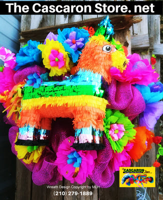 Fiesta Wreath San Antonio Home Party Decoration