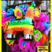 fiesta wreaths party door decoration in San Antonio, Tx with donkey pinata