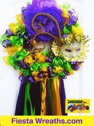 Mardi Gras Decoration Door Wreath