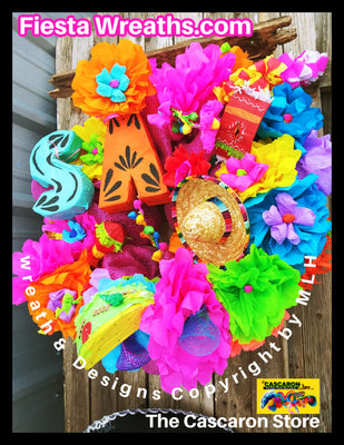 fiesta wreath San Antonio Door Home Decor