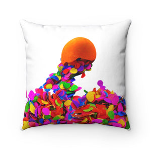 Fiesta broken cascaron confetti Square Pillow Fiesta broken cascaron confetti Square Pillow - Fiesta Arts DesignsHome Decor