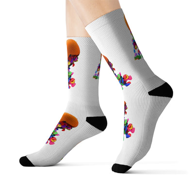 Sublimation Fiesta Cascaron Confetti Socks