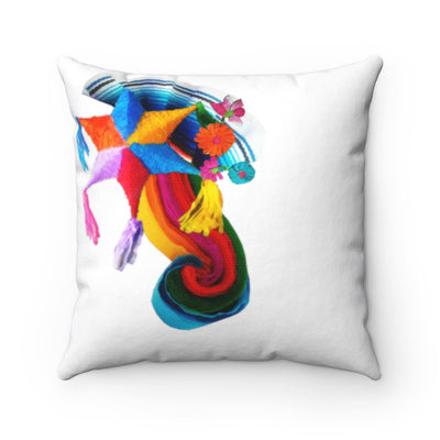 Spun Polyester Square Fiesta Pillow Spun Polyester Square Fiesta Pillow - Fiesta Arts DesignsHome Decor