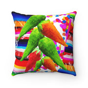 Fiesta Jalapenos & Square Pillow Home Decor Fiesta Jalapenos & Square Pillow Home Decor - Fiesta Arts DesignsHome Decor