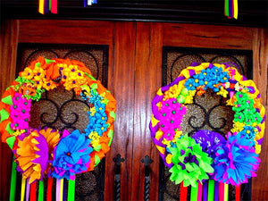 Fiesta Double Door Wreaths