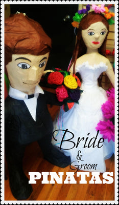 Wedding Bride & Groom Pinatas