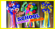 Custom Your School & University Wreath Custom Your School & University Wreath - Fiesta Arts Designs