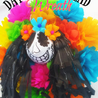 Day of The Dead Wreath Home Decoration Day of The Dead Wreath Home Decoration - Fiesta Arts Designs