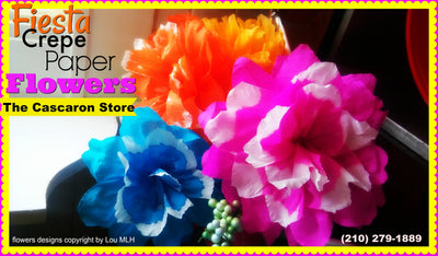 Fiesta Flowers Crepe Paper Large Decorations