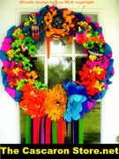 FLOWERS DOOR WREATH FLOWERS DOOR WREATH - Fiesta Arts Designs