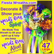 Mardi Gras Wreath Party Decoration 2021