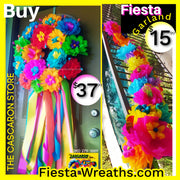 Large Fiesta Wreath with Door Garland