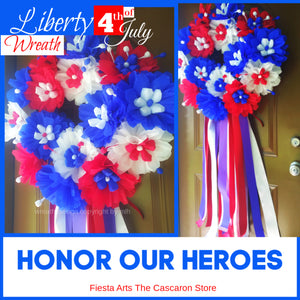Military & Veterans Heroes Wreath Military & Veterans Heroes Wreath - Fiesta Arts Designs