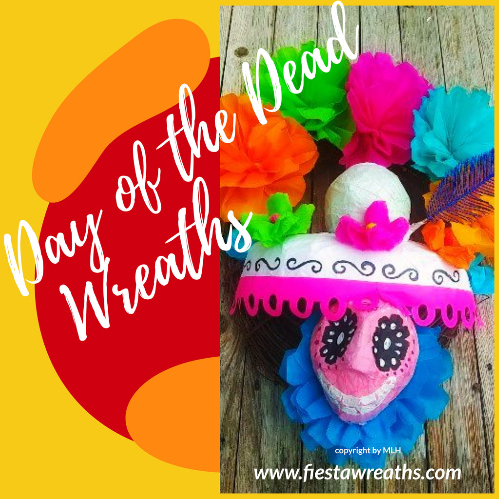 Day of The Dead Door Wreath Day of The Dead Door Wreath - Fiesta Arts Designs