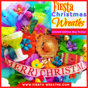 Fiesta Christmas Door Wreath