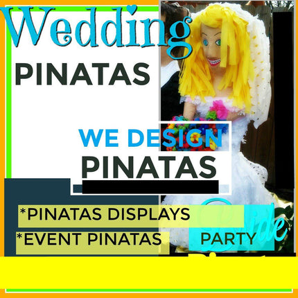 Wedding Bride Pinata Wedding Bride Pinata - Fiesta Arts DesignsMini Pinata