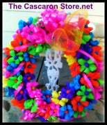 flowers door fiesta wreath
