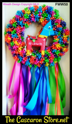 Fiesta Door Wreath Donkey Decor