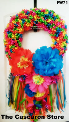 Fiesta Wreath Flowers Decor