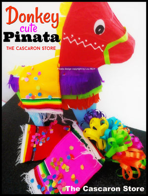 Donkey Mini Pinata Fiesta Decoration Donkey Mini Pinata Fiesta Decoration - Fiesta Arts DesignsMini Pinata